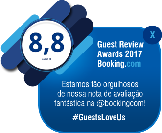 Guest Review Awards 2017 - nota: 8,8 - Booking.com - #GuestsLoveUs